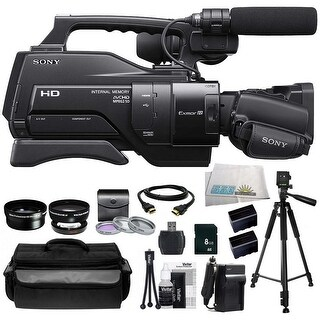 Sony HXR-MC2000 Shoulder Mount AVCHD Camcorder + Huge SSE Accessories Bundle Including .45x Wide Angle Lens & More