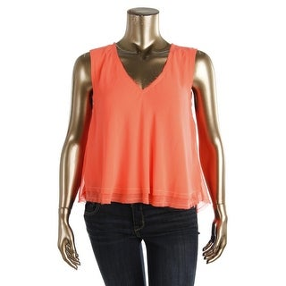 Rachel Rachel Roy Womens Pullover Top Sleeveless V-Neck