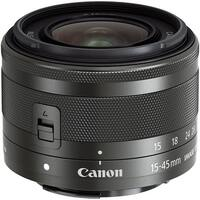 Canon EF-M 15-45mm f/3.5-6.3 IS STM Lens (Graphite) (International Model)