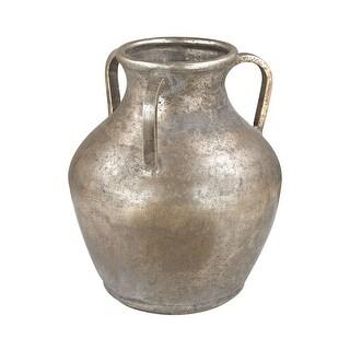"""GuildMaster 2100-014  10"""" Tall Metal Water Jug Vase - Naturally Aged"""