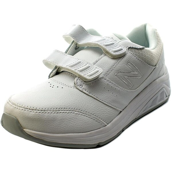 New Balance WW928 Women D Round Toe Leather Sneakers