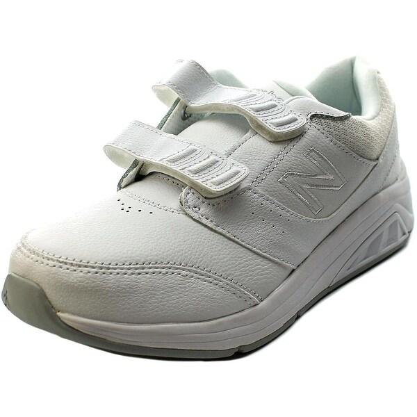 New Balance WW928 Women Round Toe Leather White Sneakers