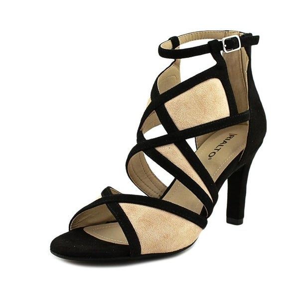 Rialto Ria Women Open Toe Synthetic Black Sandals