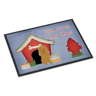 Carolines Treasures BB2823MAT Dog House Collection Poodle Tan Indoor or Outdoor Mat 18 x 0.25 x 27 in.