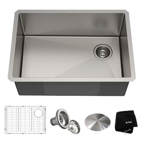 KRAUS Standart PRO Stainless Steel 27 inch Undermount Kitchen Sink