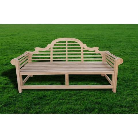 Seven Seas Teak Marlborough Outdoor Teak Wood Bench, 4 Foot