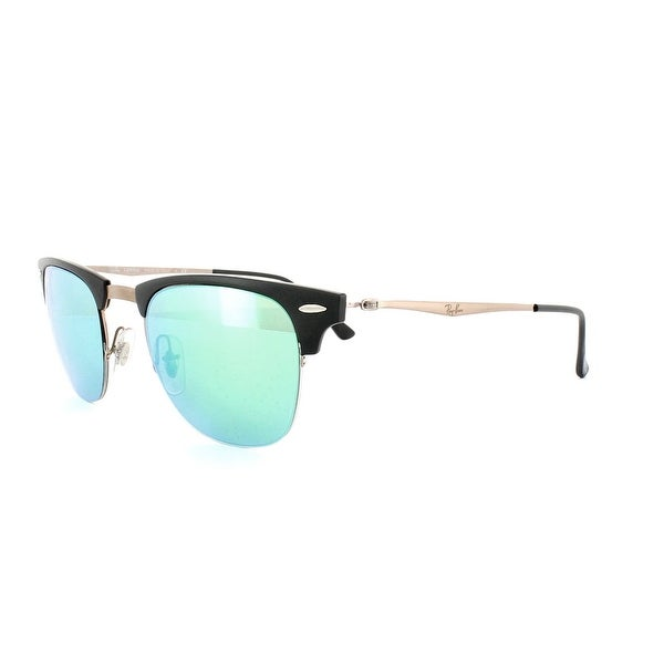 e5704854068 Shop Ray-Ban Rb8056-176 3R Sunglasses Black Brown With Green Mirror ...