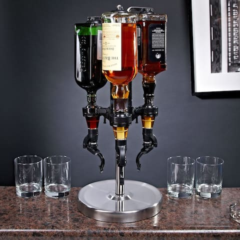 3-Bottle Revolving Liquor Dispenser