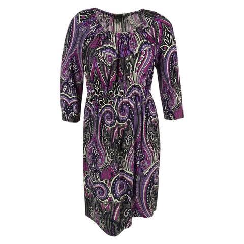 8a36ceed111 INC International Concepts Women s Paisley Print Dress - Multi Print