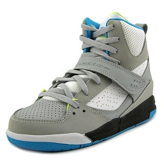 Jordan Flight 45 High - PS Youth Round Toe Synthetic Gray Sneakers