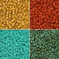Exclusive Beadaholique Toho Seed Bead Palette, Round 11/0, 32 Grams, Sundance Escape
