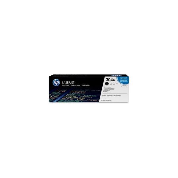 HP 304A Black Contract LaserJet Toner Dual Cartridge (CC530AD)(Single Pack)