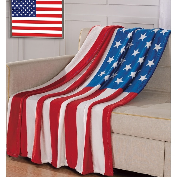 American Flag Oversized Throw. Opens flyout.