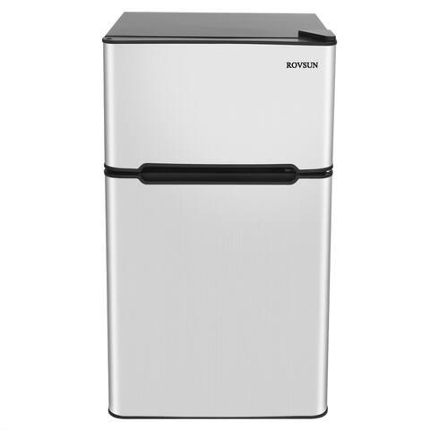 2-Door 3.2 Cu. Ft. Mini Refrigerator, Grey
