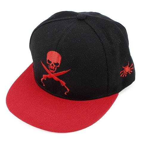 Unique Bargains Outdoor Adjustable Band Visor Baseball Cap Hat Red Black for Man
