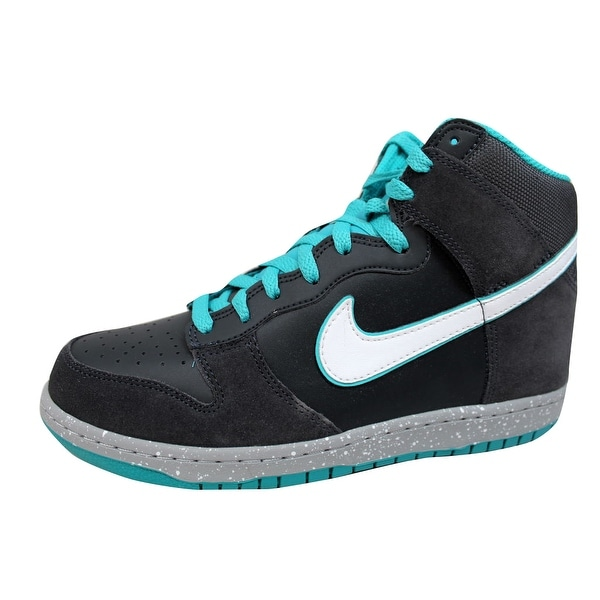 Nike Men's Dunk High Anthracite/White-Sport Turquoise 317982-052 Size 9