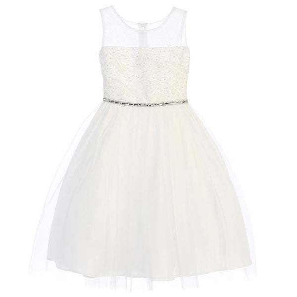 89a1f2f2f9 Shop Sweet Kids Girls White Sparkle Feather Patch Mesh Easter Dress - Free  Shipping On Orders Over  45 - Overstock - 19292463