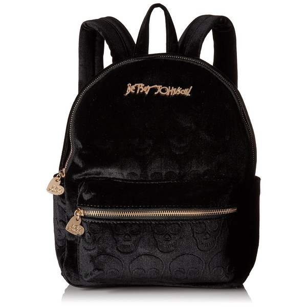 698b35263854 Shop Betsey Johnson NEW Black Small Skull Backpack Style Handbag ...