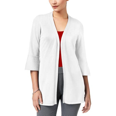 NY Collection Womens Cardigan Sweater Work Wear Open Front