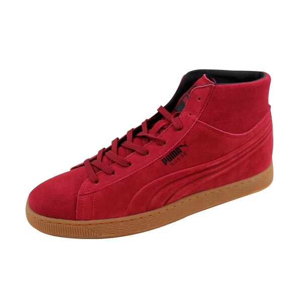 38caa8ac316e Shop Puma Men s Suede Mid Emboss Rio Red 360802 03 - On Sale - Free ...
