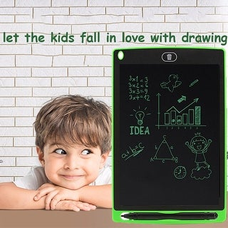 ECO Friendly Paperless eWriter Drawing Tablet - ( 8.5-inch + One Click Erase ) Great for Kids of all ages - Green