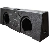 "Qpower QBOMB Dual 12"" Vented Empty Box Behind Seat Mount"