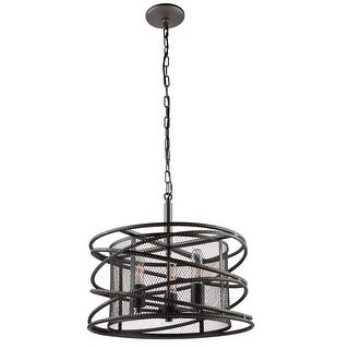 Artcraft Lighting AC10821 Rebar Studio 3-Light Chandelier - Dark Java Brown - N/A