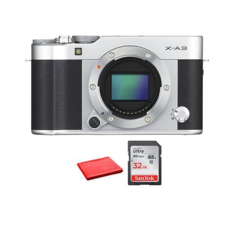 FUJIFILM X-A3 Mirrorless Digital Camera (Body Only)(Kit Box)