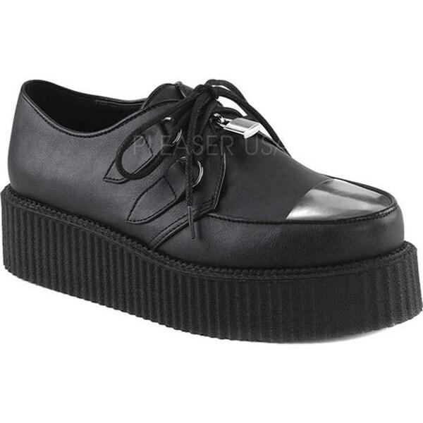 Demonia Men's V Creeper 515 Oxford Black Vegan Leather