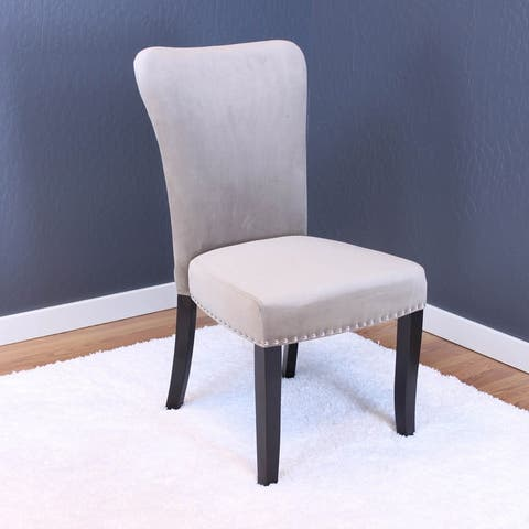 Silver Orchid Flohr Velvet Dining Chairs (Set of 2)
