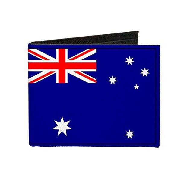 Buckle-Down Canvas Bi-fold Wallet - Australia Flag Accessory