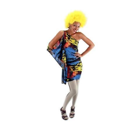 Yellow Fuzzy Costume Wig Adult