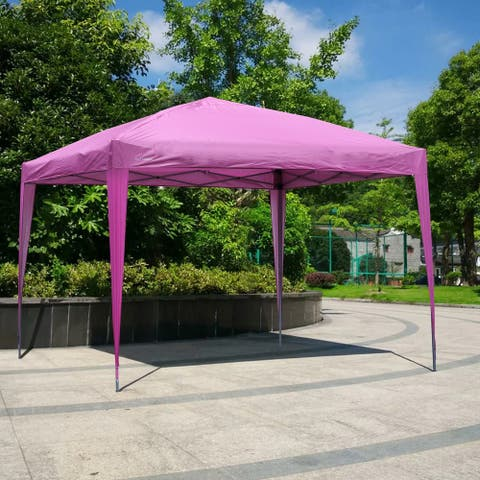 """Pink Flat top outdoor Tent with roof without enclosure - 118.11""""x 118.11""""x 98.43""""INCH"""