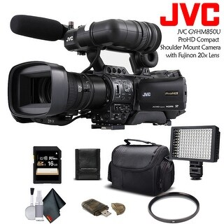 JVC GY-HM850U ProHD Compact Shoulder Mount Camera with Fujinon 20x Lens (Intl Model) With Bundle