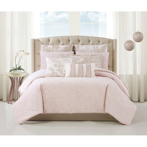 Charisma Melange Velvet 3 Piece Comforter Set