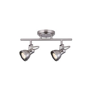 """Canarm IT622A0210 Polo 2-Light 14"""" Wide Fixed Rail - Ceiling or Wall Mount"""