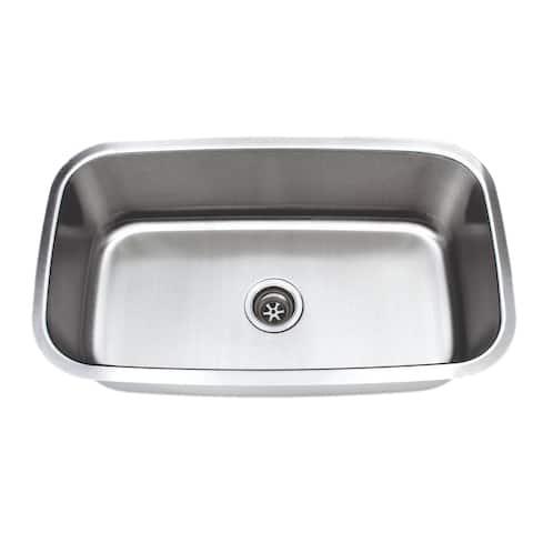 Wells Sinkware Craftsmen Series 31-inch 18-gauge Undermount Single Bowl Stainless Steel Kitchen Sink - Sink Only