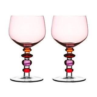 Sagaform Spectra Wine GlassSet of 2Pink