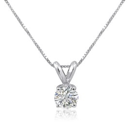 Amanda Rose IGI Certified Eco-Friendly Lab Grown 1/2ct Diamond Pendant-Necklace in 14K White Gold