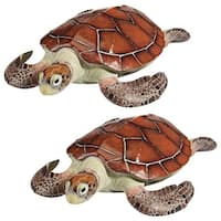 Design Toscano  Flat Back Sea Turtle Statues: Set of Two
