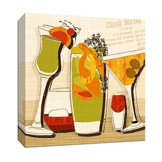 """PTM Images 9-146829  PTM Canvas Collection 12"""" x 12"""" - """"Martini"""" Giclee Liquor & Cocktails Art Print on Canvas"""