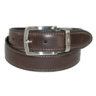 Nautica Boys' Leather Reversible Padded Belt with Feather Edge
