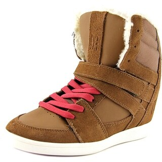 DC Shoes Mirage Mid Women Round Toe Leather Sneakers