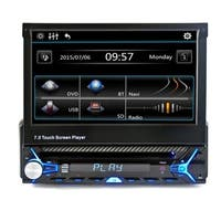 7 LCD Touchscreen Flip Out DVD CD USB MP3 Car Stereo