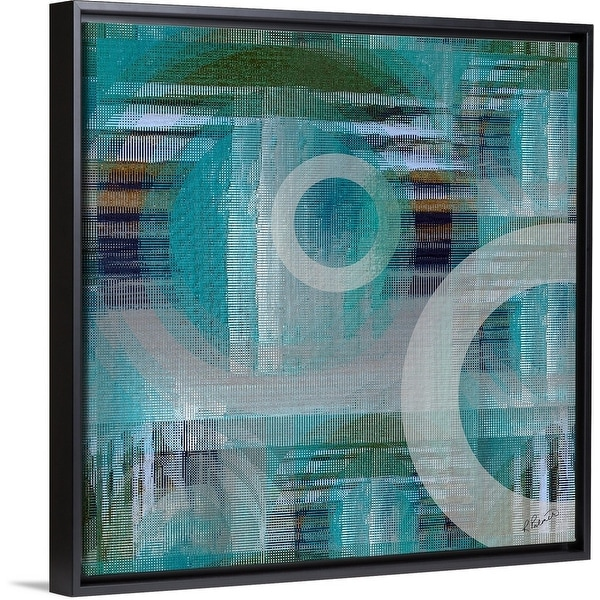 """""""Fading Away Two"""" Black Float Frame Canvas Art"""
