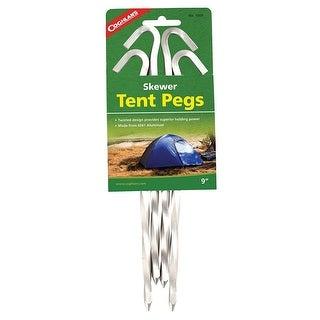 "Coghlan's 1009 Skewer Tent Pegs, Aluminum, 9"", 4 Piece"
