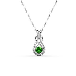 Link to TriJewels Gemstone Women Solitaire Love Knot Pendant Necklace 14K Gold Similar Items in Necklaces
