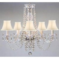 Swarovski Elements Crystal Trimmed Plug In Chandelier Lighting