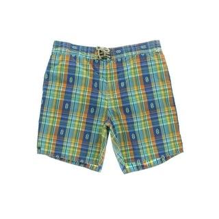 Polo Ralph Lauren Mens Plaid Lace-Up Swim Trunks - XL