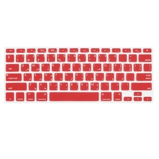 Unique Bargains Arabic English Red Silicone Keyboard Film Cover for Apple MacBook Air 13